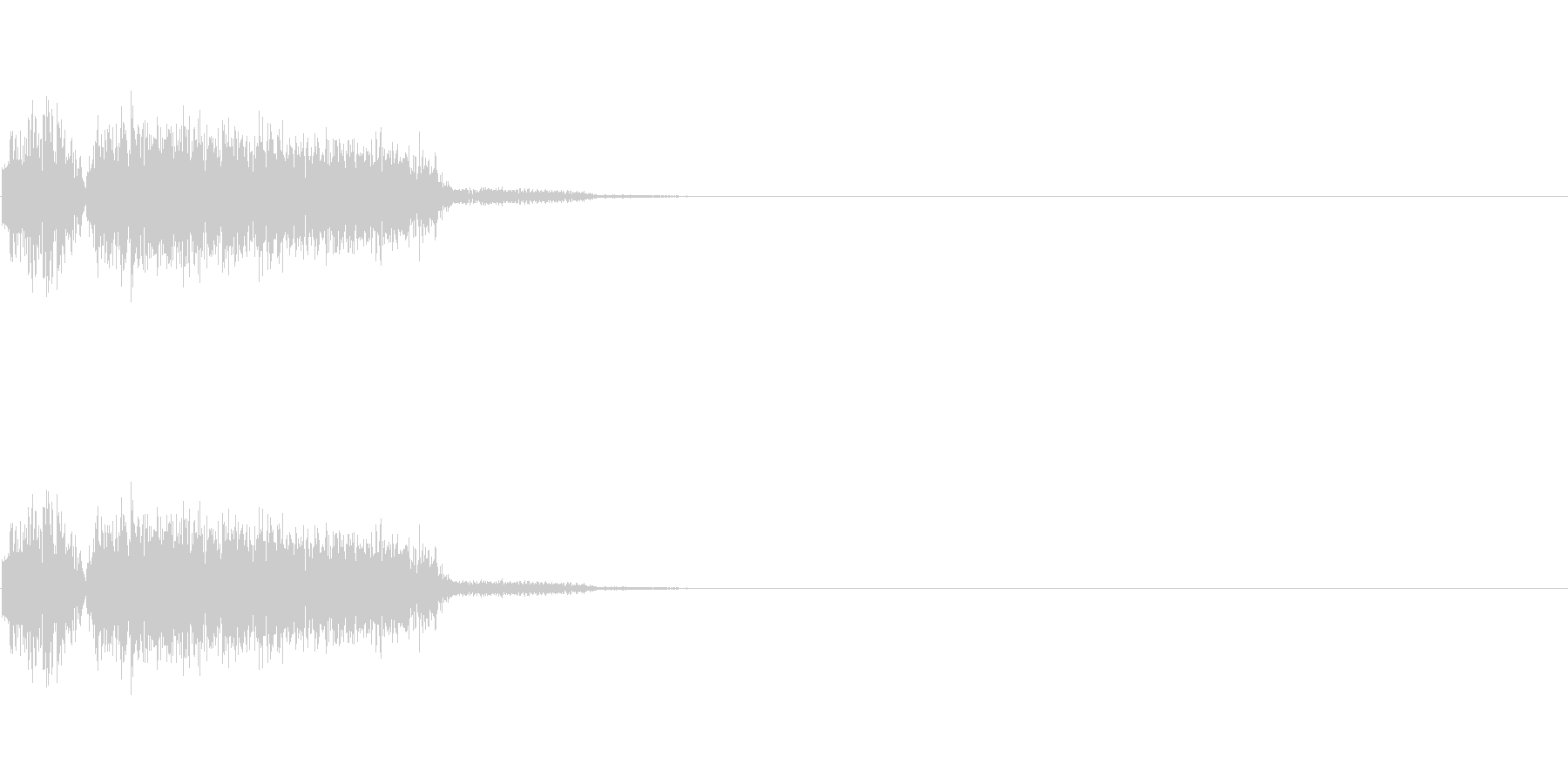 パンチ・キック時の打撃音の未再生の波形