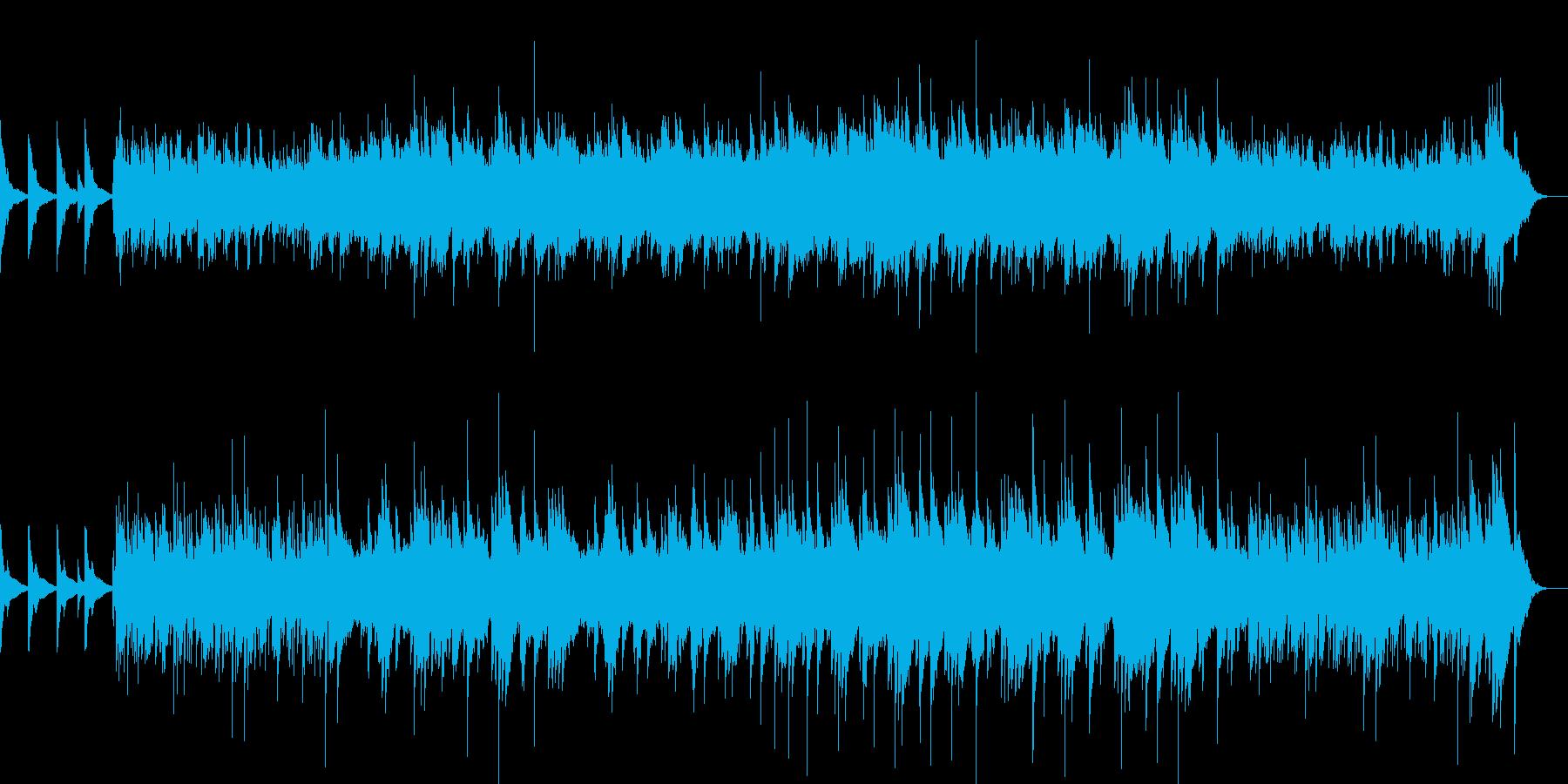ピアノとストリングスによる映像向きの曲の再生済みの波形