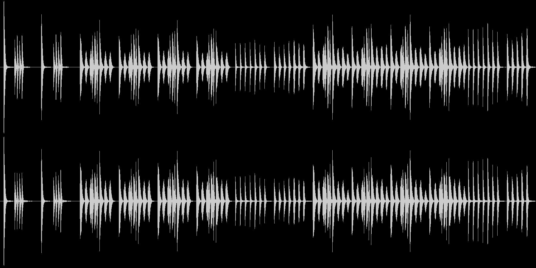木琴のみの音色で作ったコミカルな短めの曲の未再生の波形