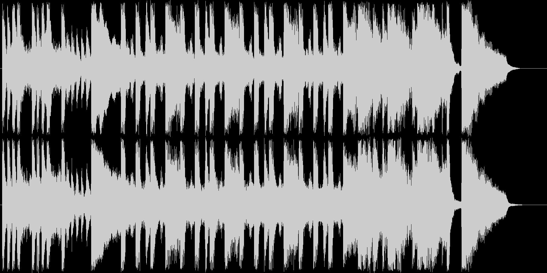 明るく楽しげなシンセなど短めジングルの未再生の波形
