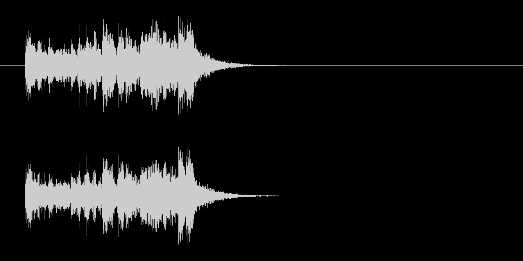 ジングル(ポップ系)の未再生の波形