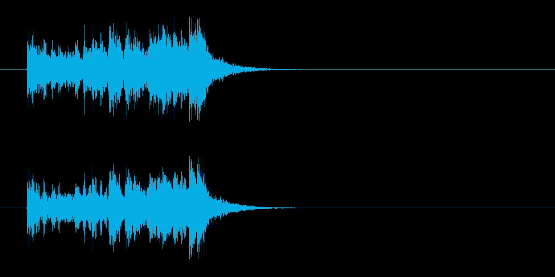 ジングル(ポップ系)の再生済みの波形