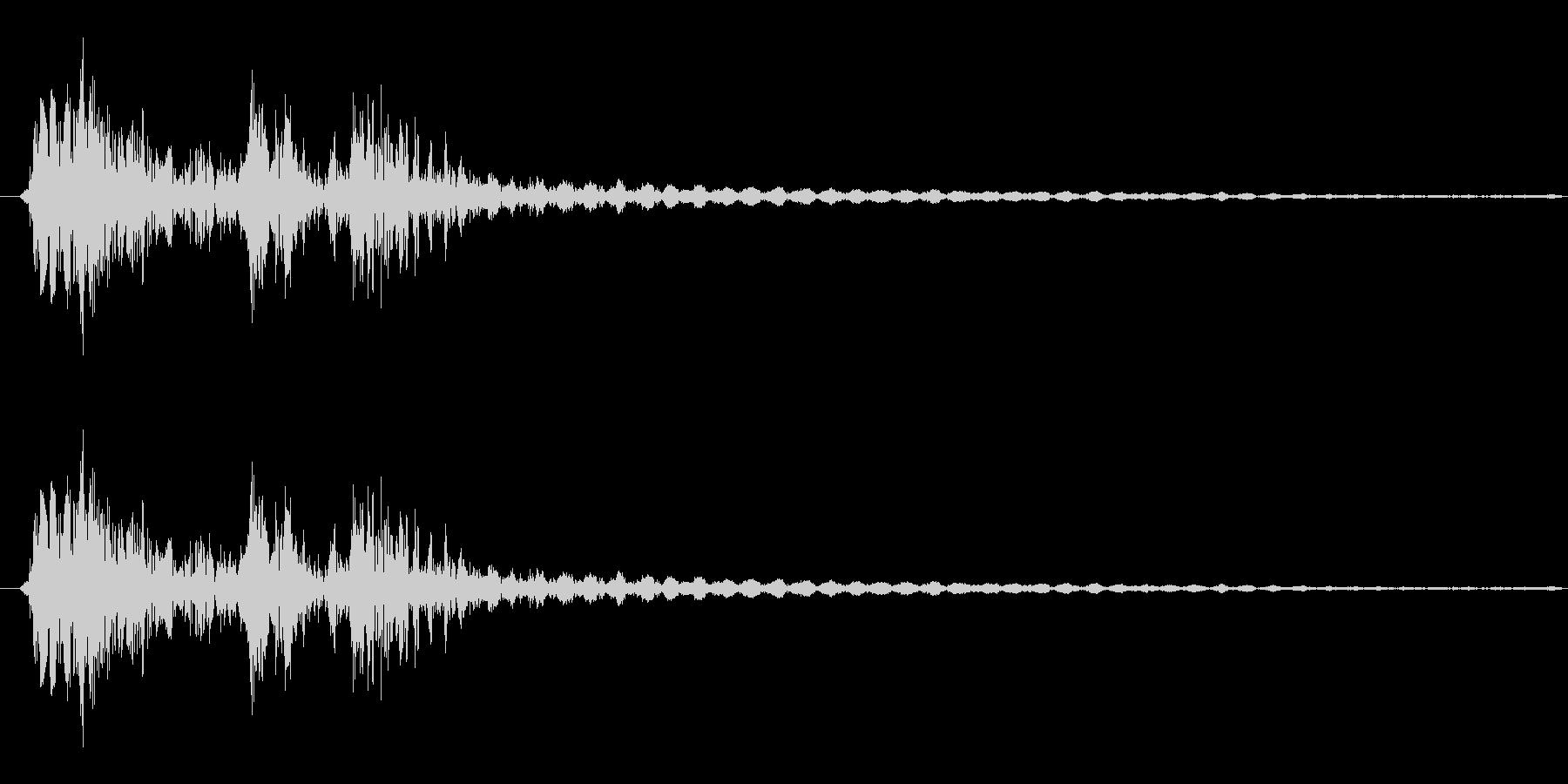 弓矢を放った時の効果音02の未再生の波形