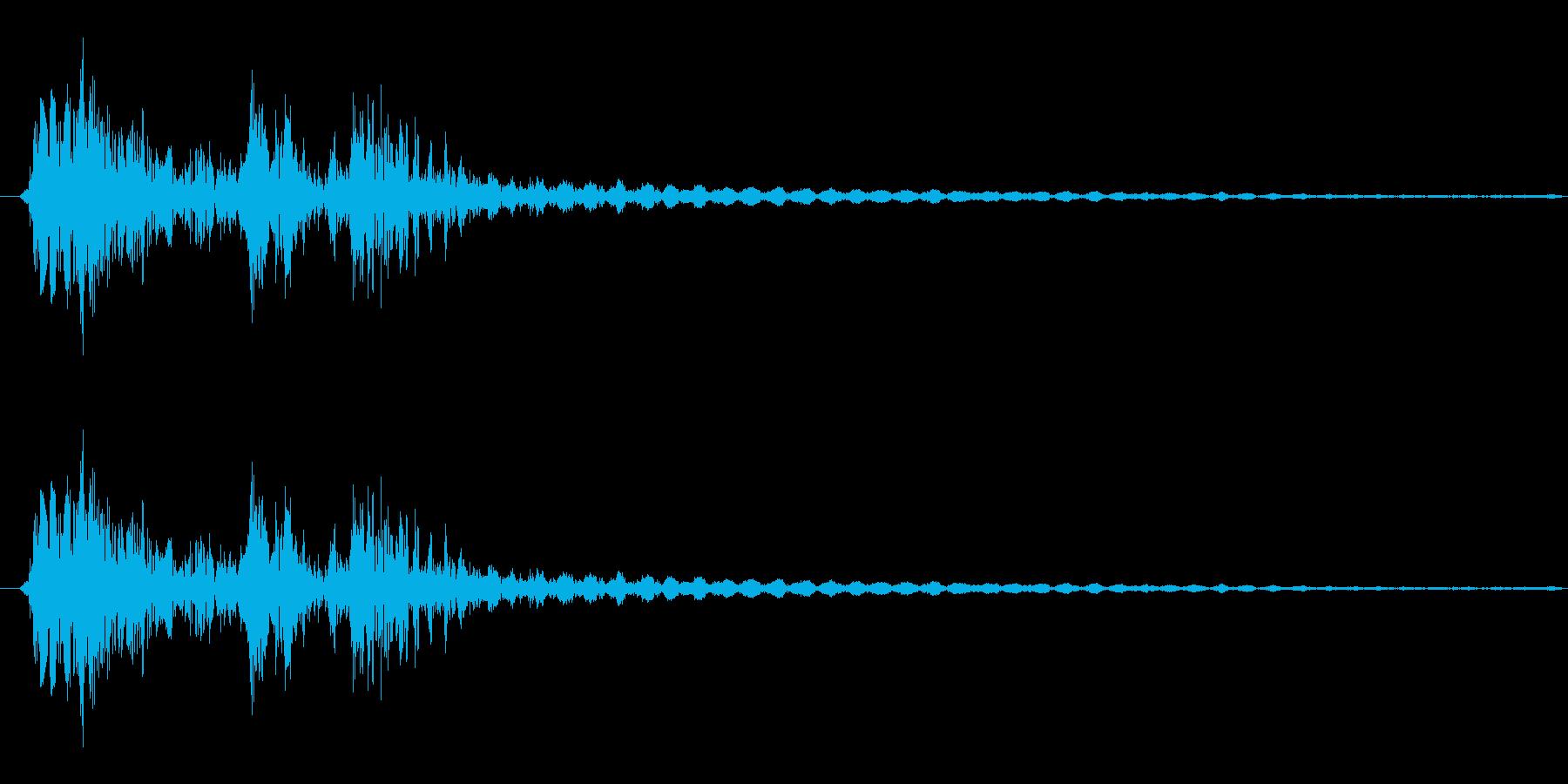 弓矢を放った時の効果音02の再生済みの波形