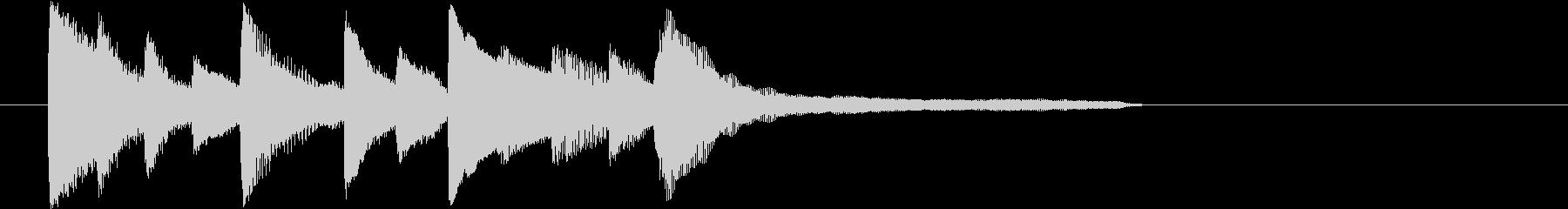 7~8秒のピアノの和風ジングルです。の未再生の波形