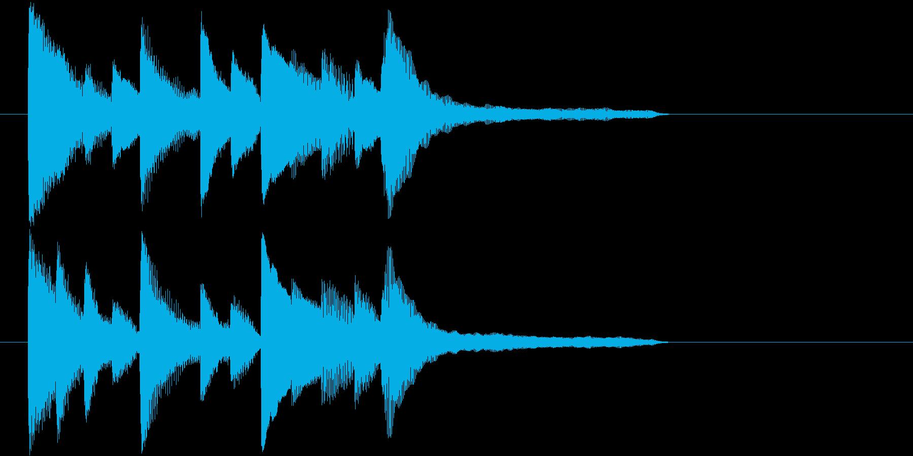 7~8秒のピアノの和風ジングルです。の再生済みの波形