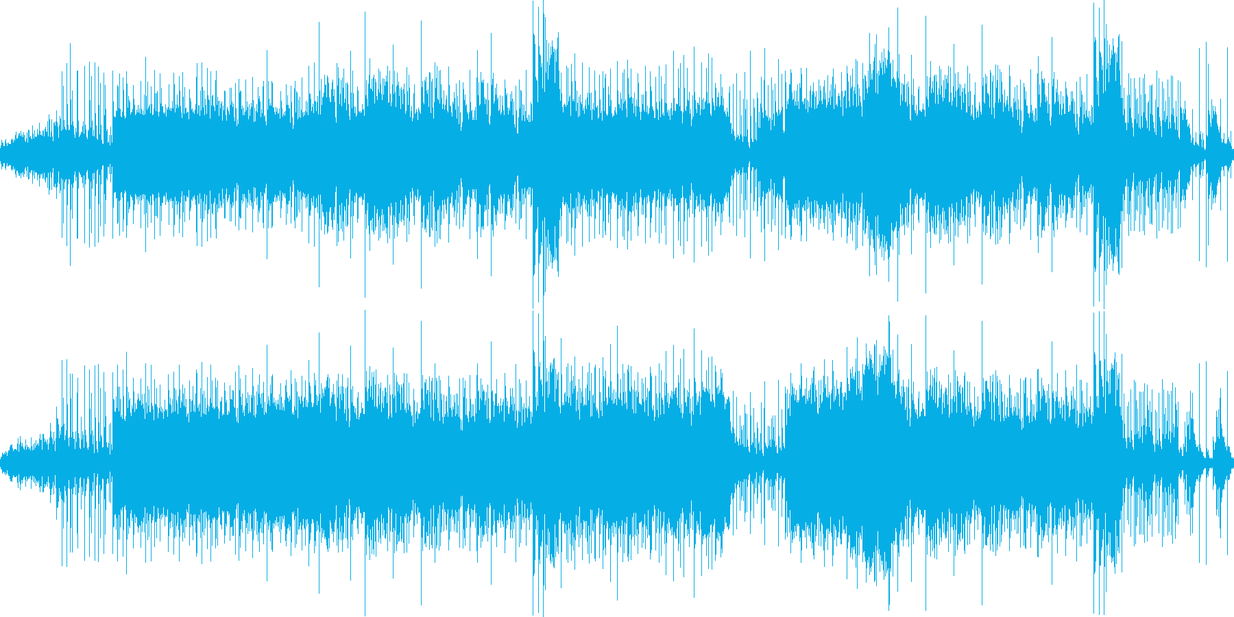 ドキドキとサスペンスのシャープなロックの再生済みの波形