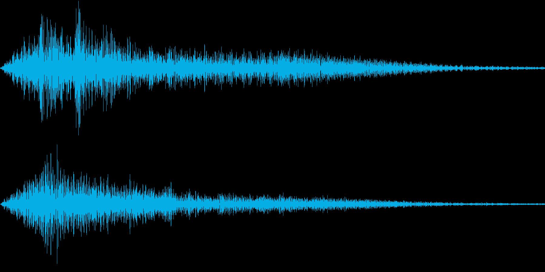 シュイン キャンセル音などにの再生済みの波形