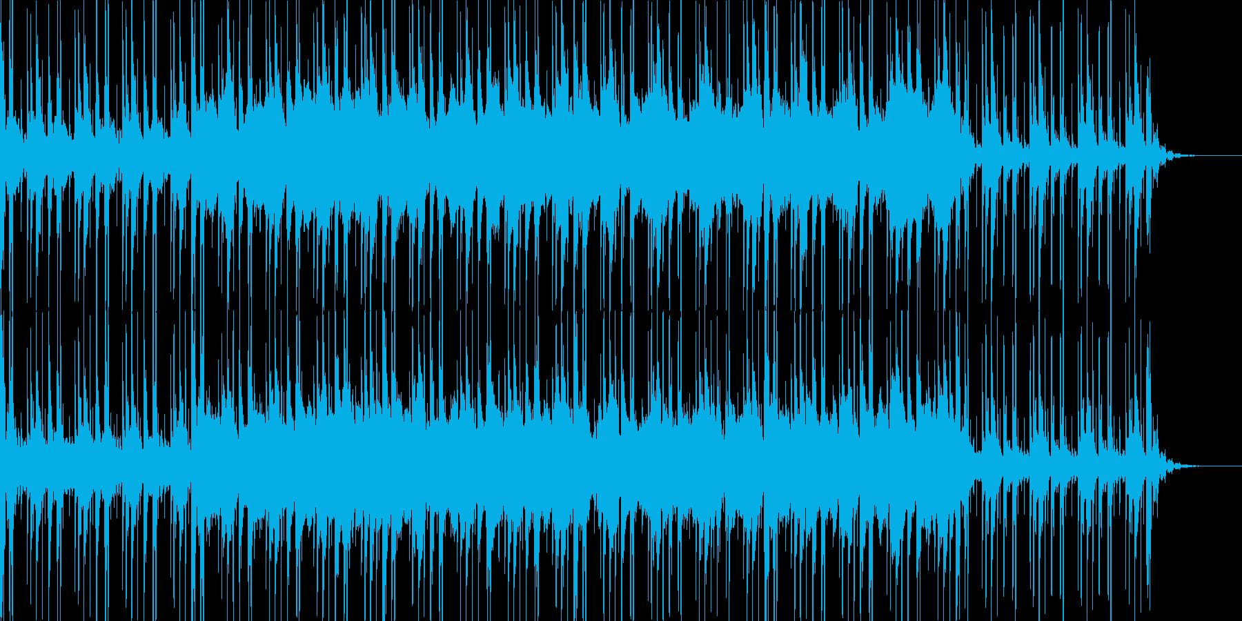 お化け屋敷に最適な奇妙な雰囲気の曲の再生済みの波形