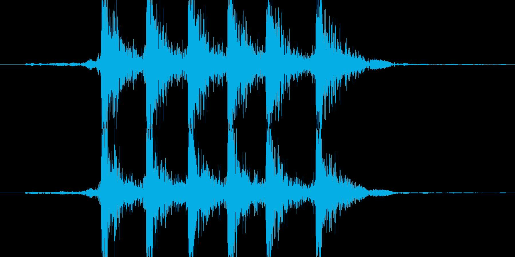 【機械/ロボット系005】ダダダ、カカカの再生済みの波形