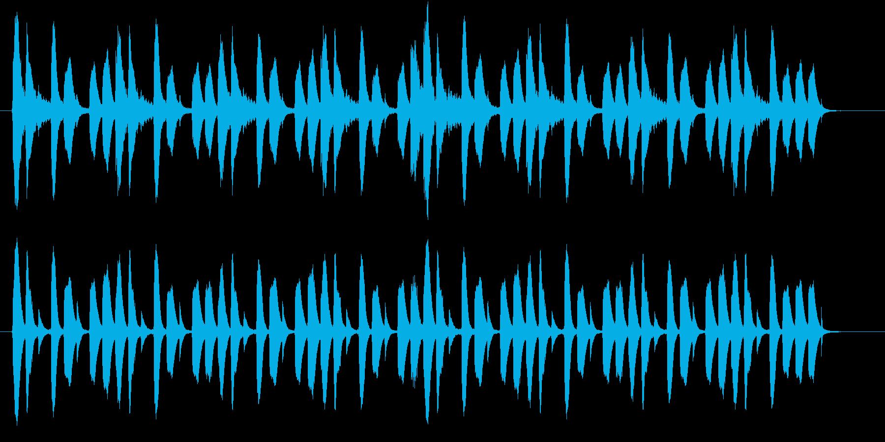 シンキングタイムなどに使えるシンプルな曲の再生済みの波形