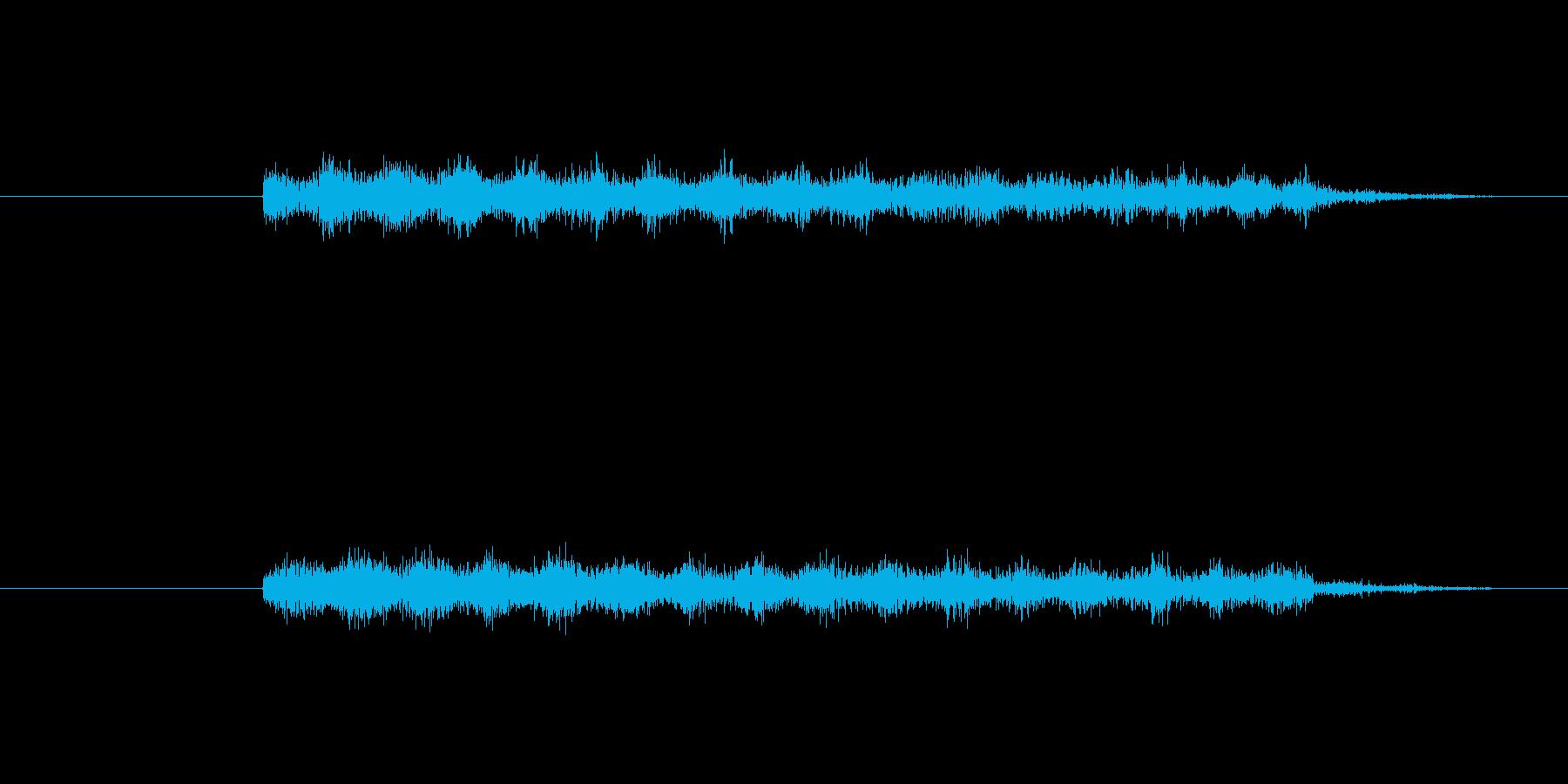 機械のぶりぶりした音ですの再生済みの波形