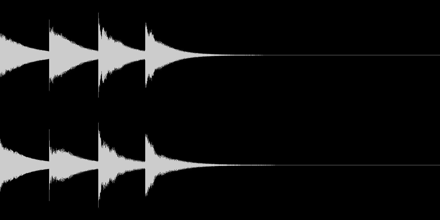 ピンポンパンポン(アナウンス・上行)の未再生の波形