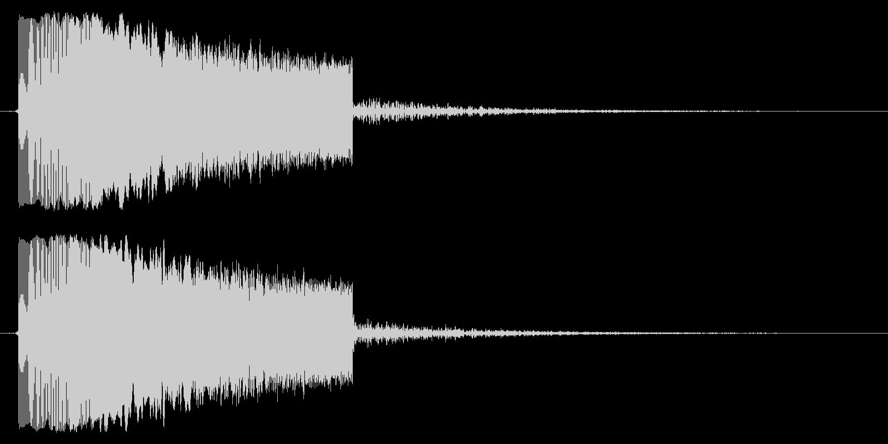 上昇音の未再生の波形