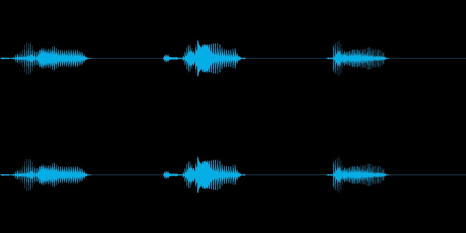 3・2・1のカウントダウンです(男性)の再生済みの波形