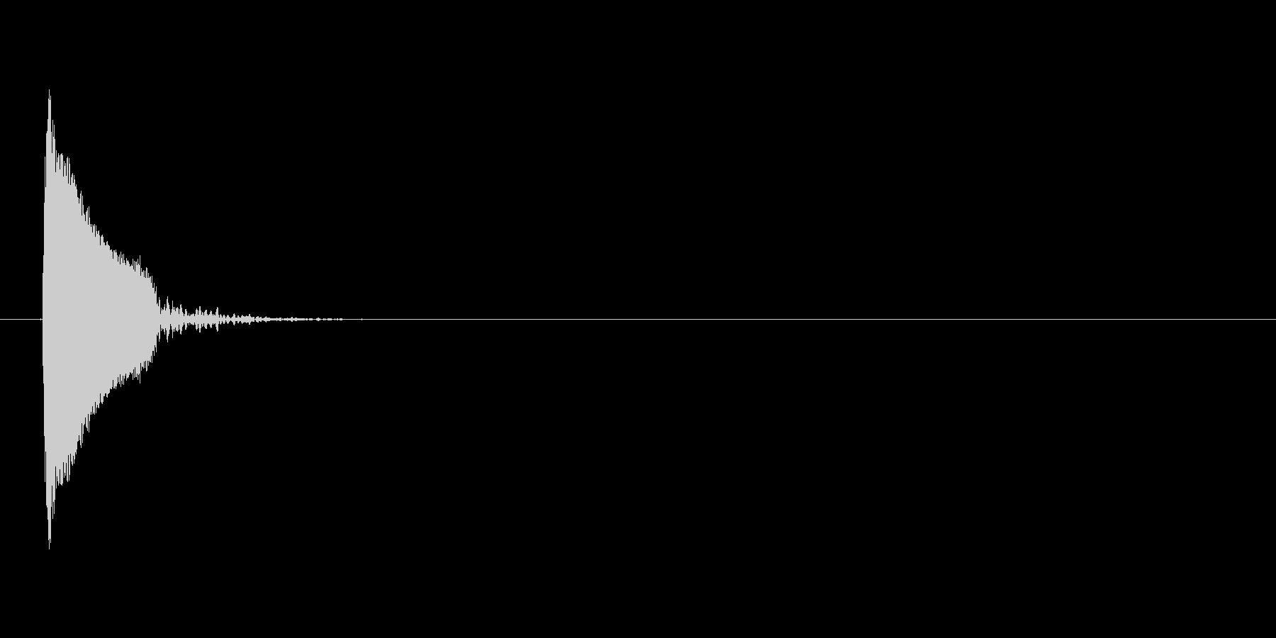 ピッ(カーソル音)の未再生の波形