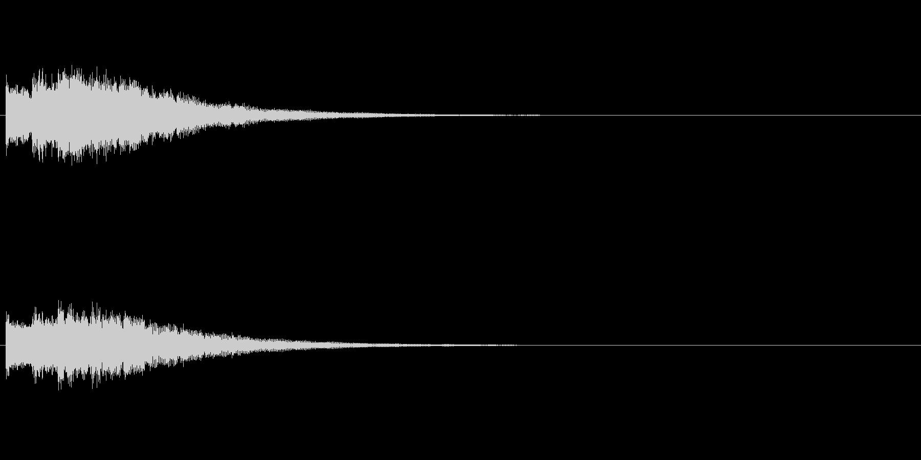 シンプルな起動音の未再生の波形