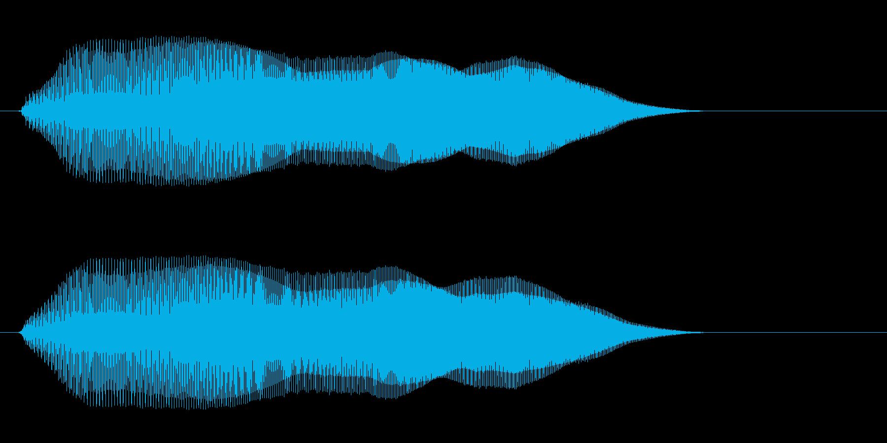 ピューー(ジャンプ音)の再生済みの波形