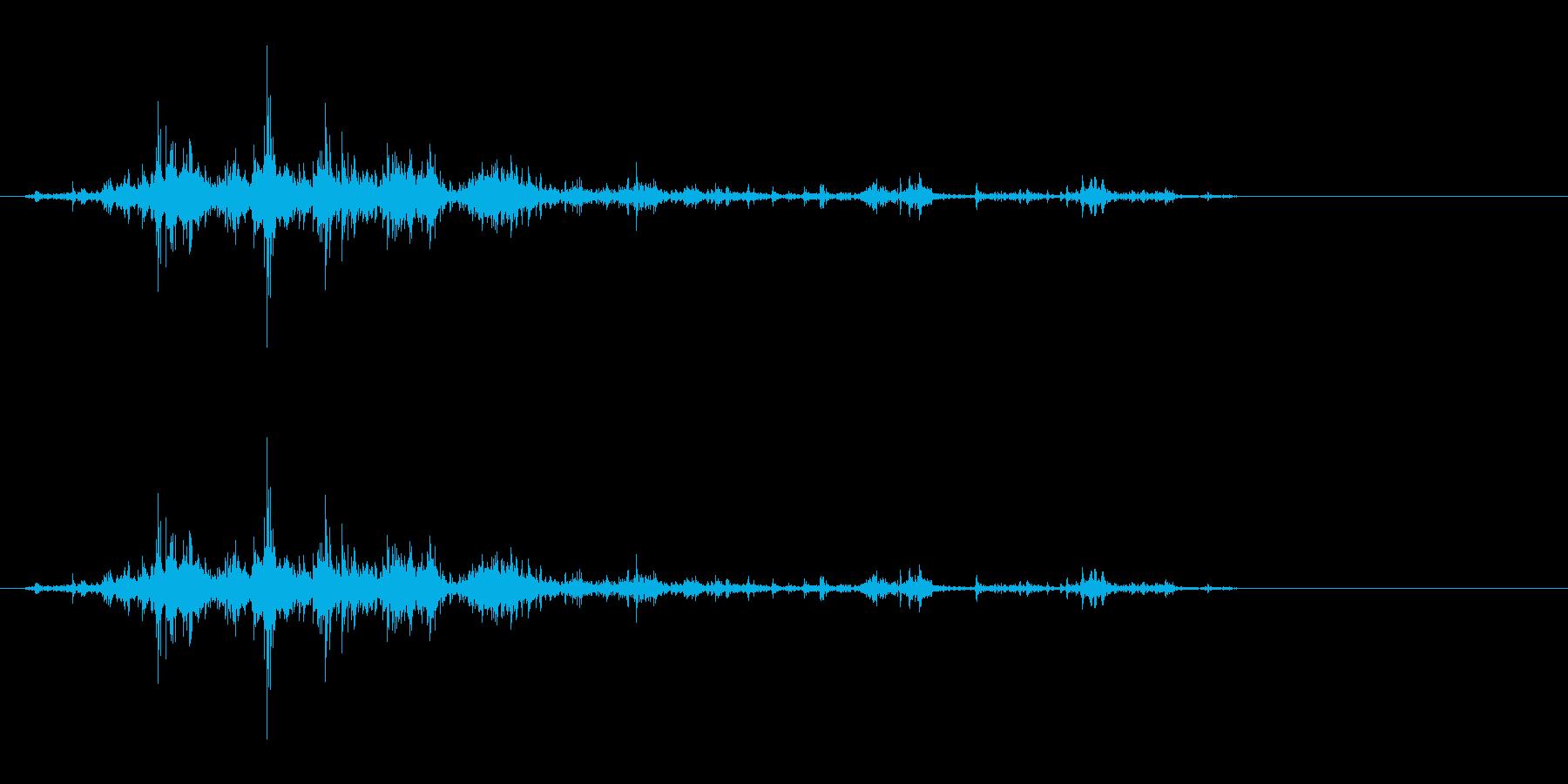 音侍「ガラガラ…」木片シェーカーの振り音の再生済みの波形