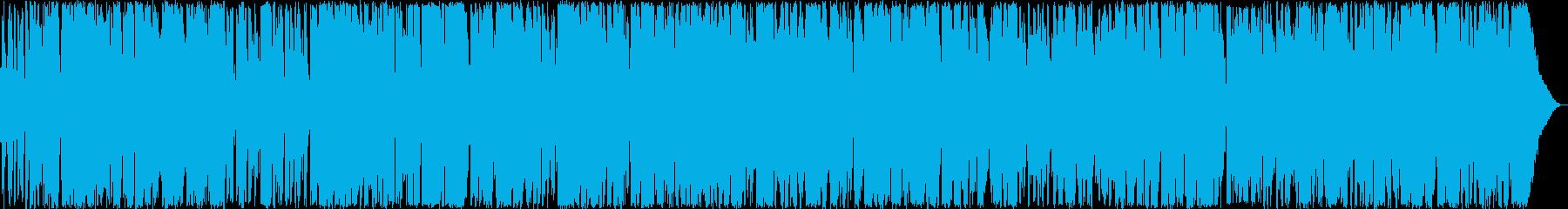 アンティークカフェで聴くボサノバ風曲の再生済みの波形