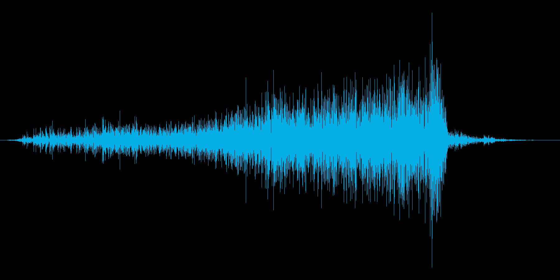 紙を破る音の再生済みの波形