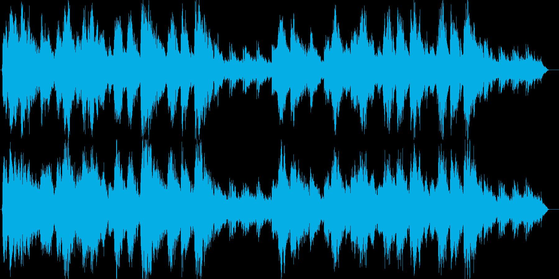 ゆったりと時が流れていくメロディーの再生済みの波形