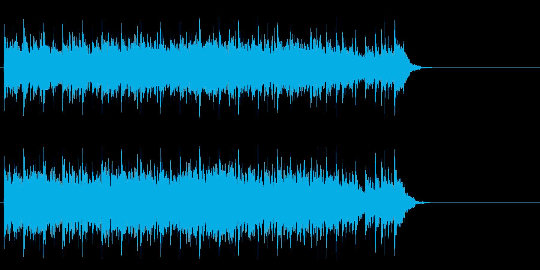 楽しく軽快なポップ(サビ)の再生済みの波形