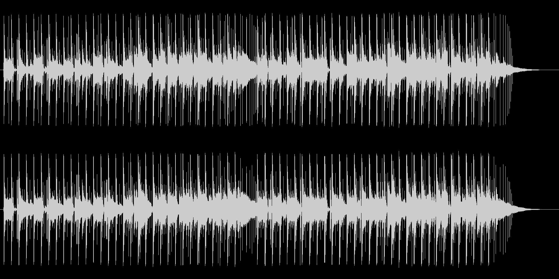 ほのぼの明るいアコースティックBGMの未再生の波形