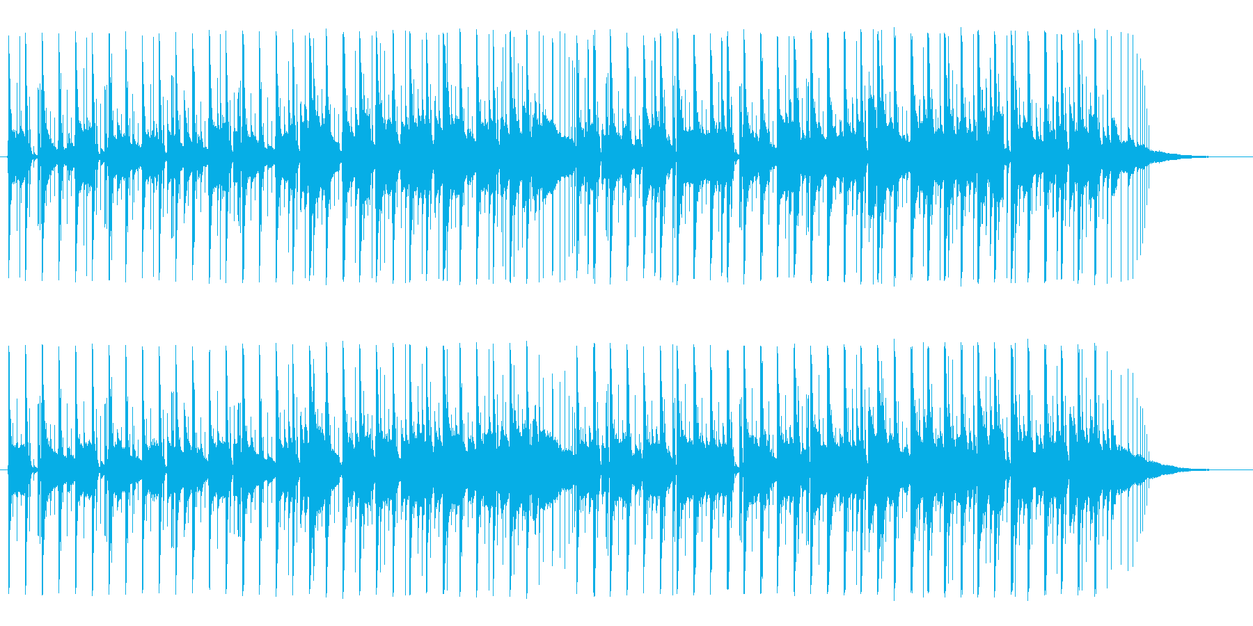 ほのぼの明るいアコースティックBGMの再生済みの波形