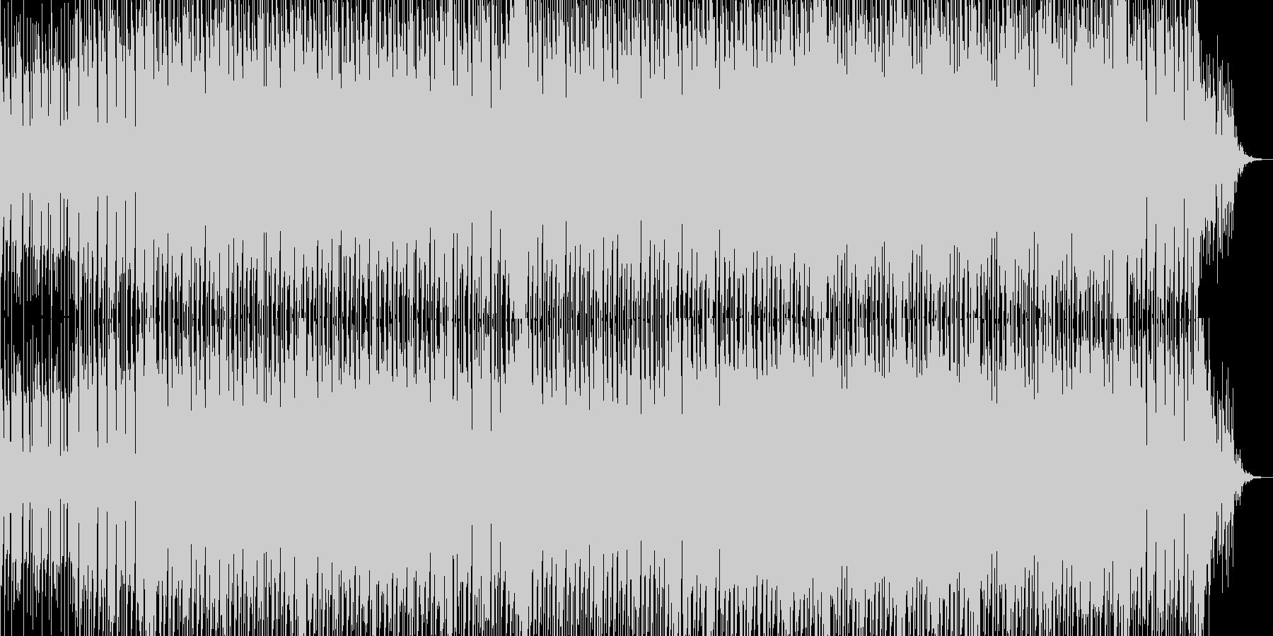 リズムが印象的なエレクトロテクノの未再生の波形