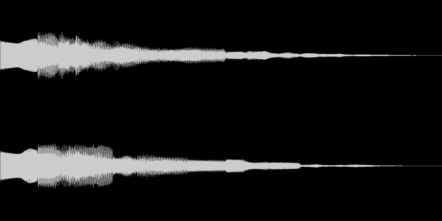 ピンポーン!!クイズ正解OKピンポン01の未再生の波形