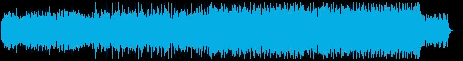 豪華でキラキラしたシンセサイザーの曲の再生済みの波形