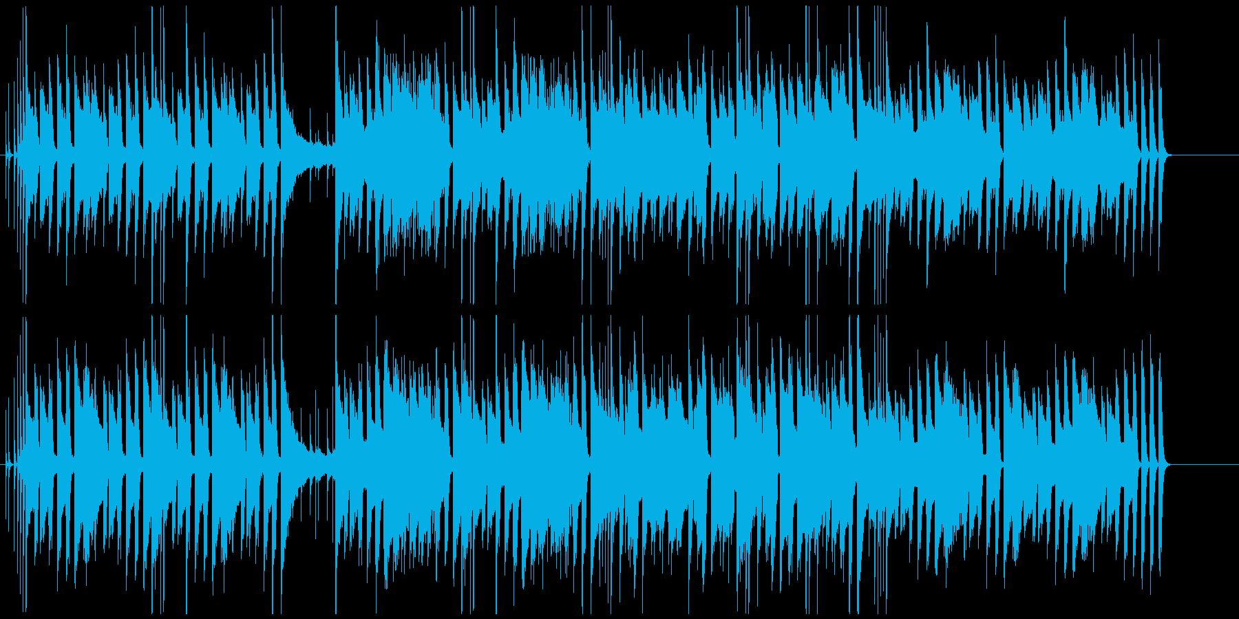 ほのぼのとしたピアノと木琴の会話シーン曲の再生済みの波形