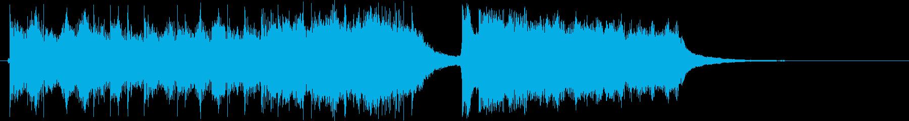強いトーンのジングル曲の再生済みの波形