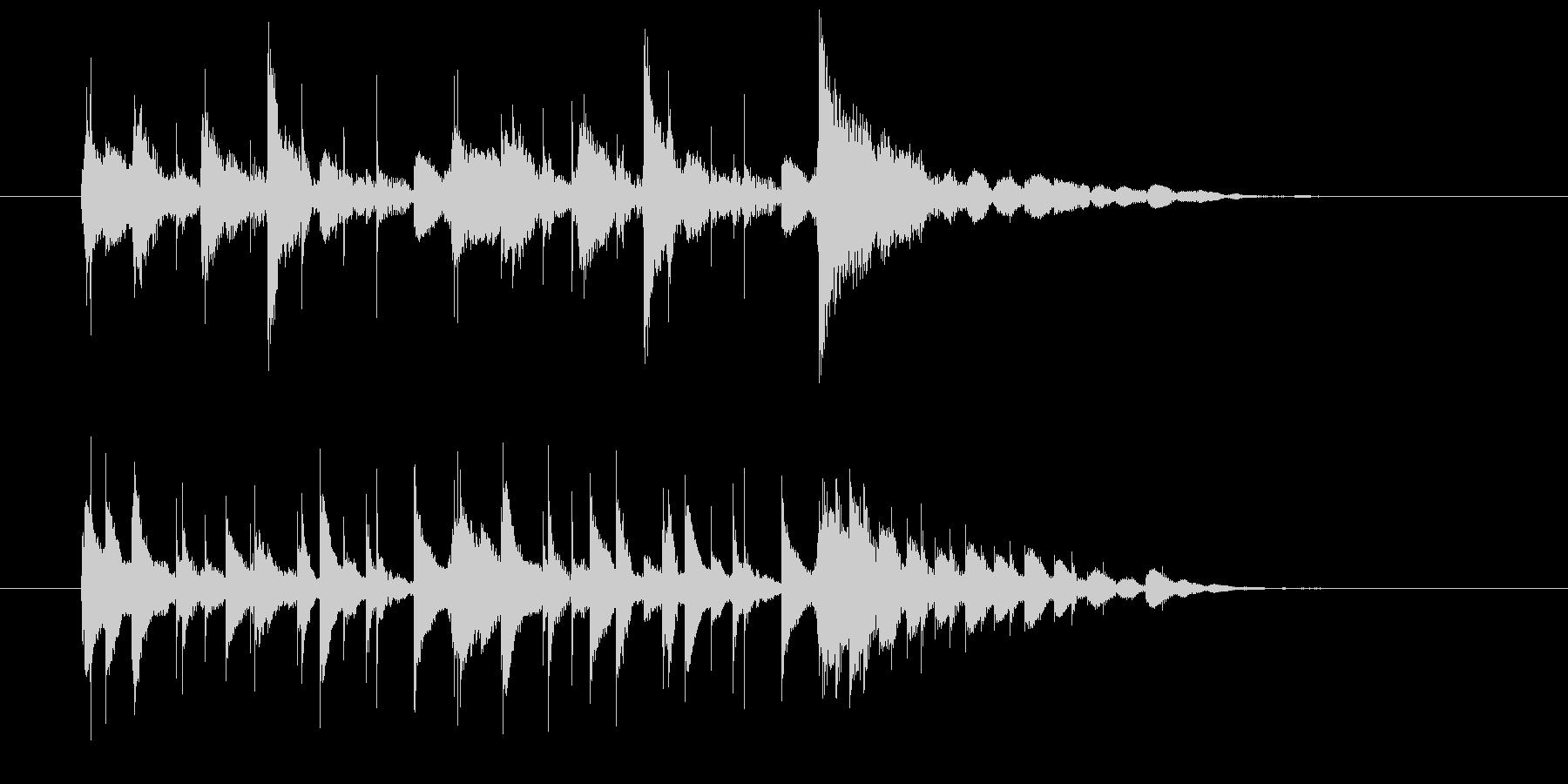 マリンバとギターのエキゾチックの未再生の波形