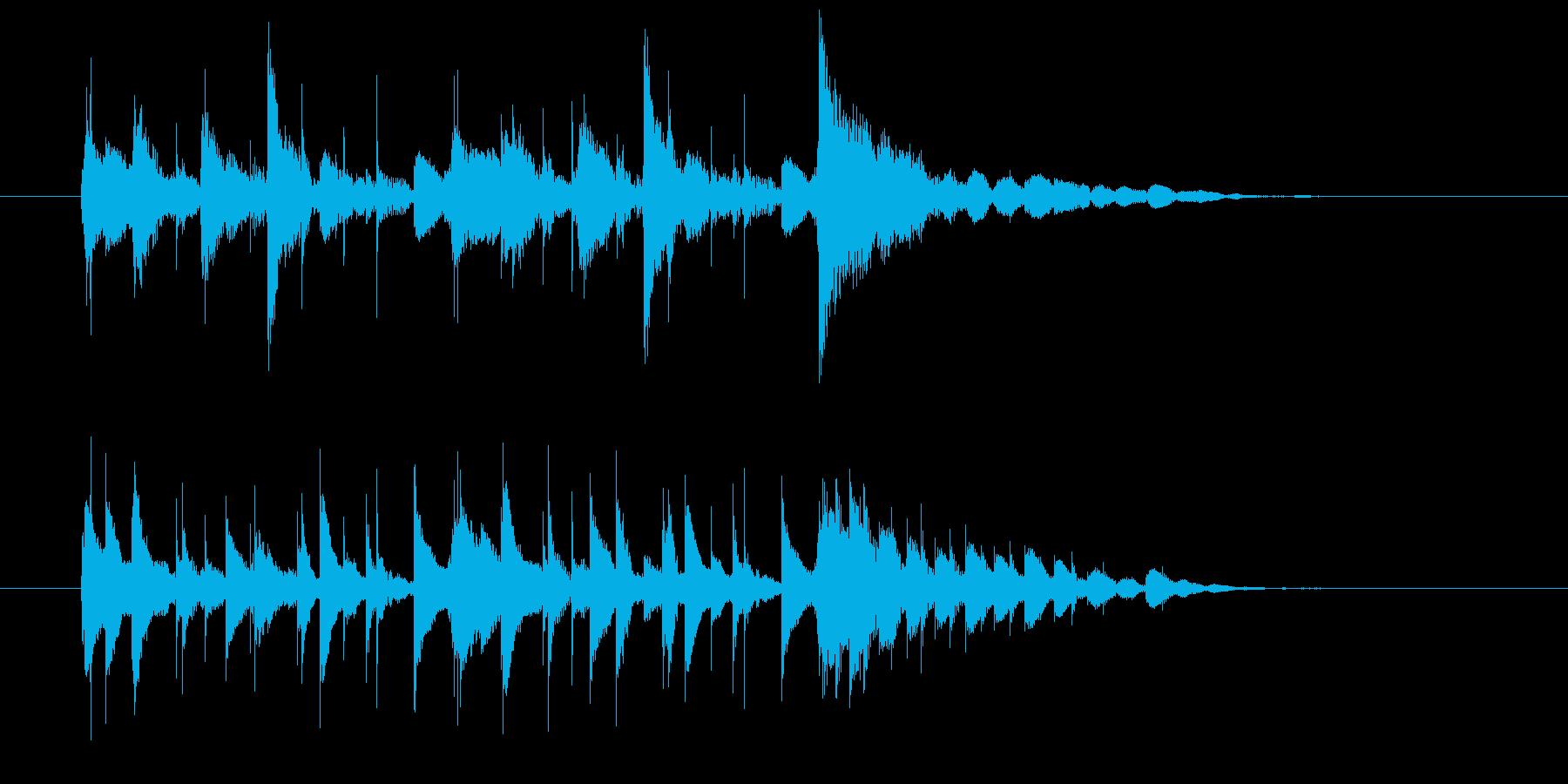 マリンバとギターのエキゾチックの再生済みの波形