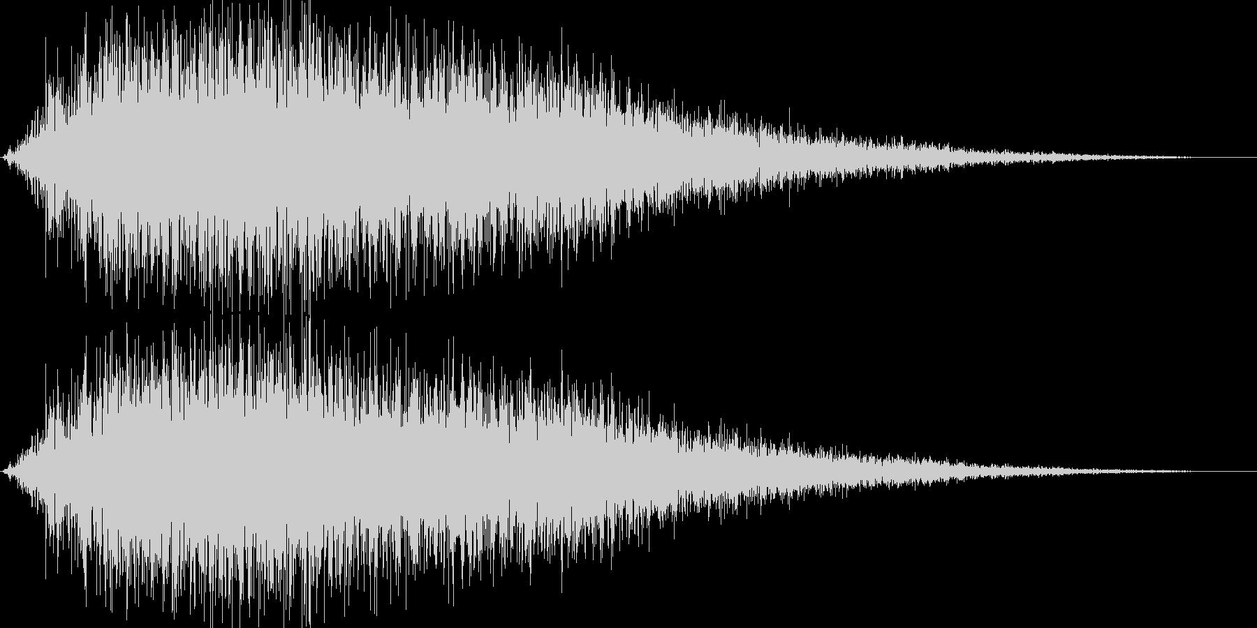 ブシューン(金属系効果音)の未再生の波形