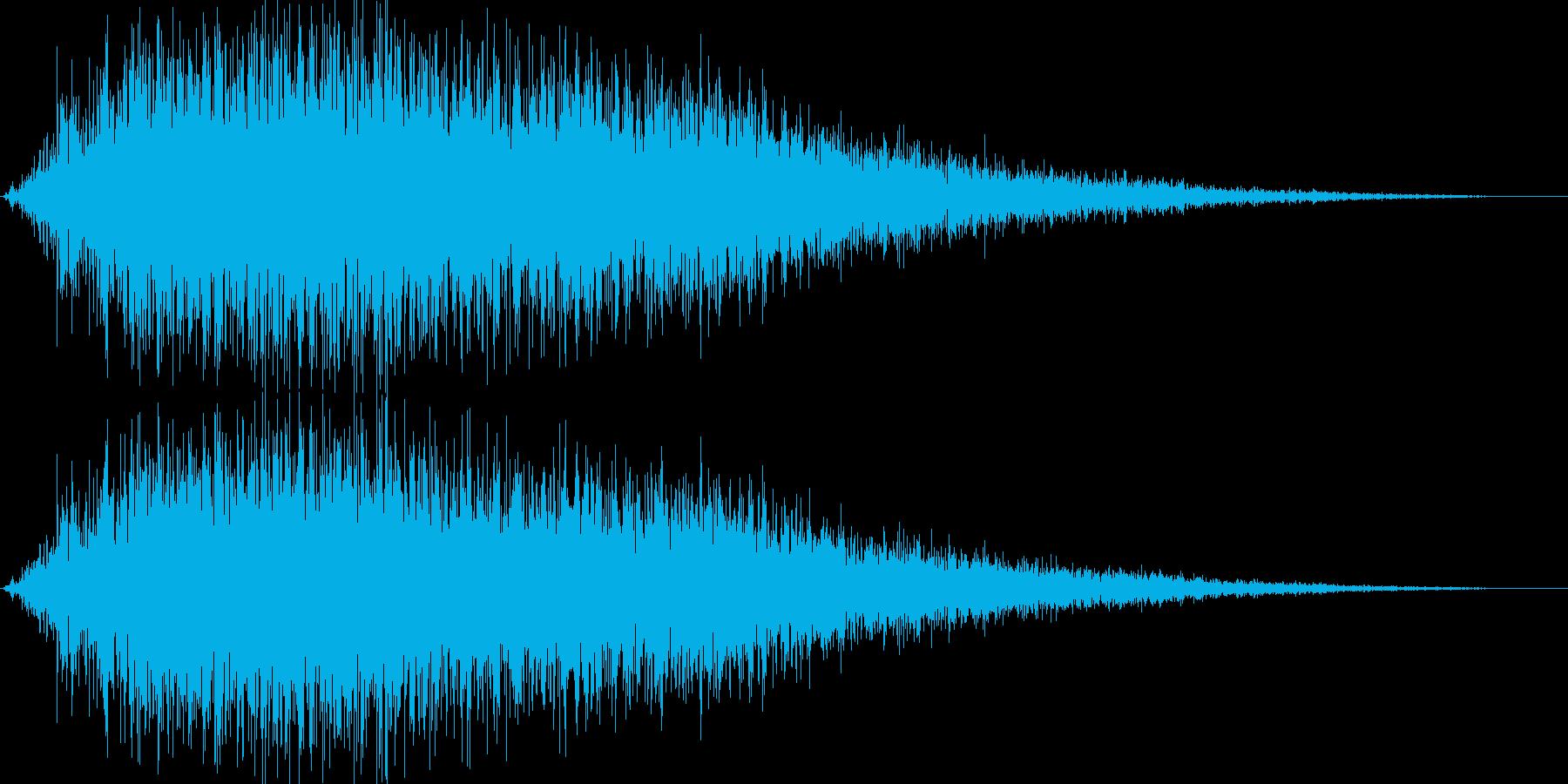 ブシューン(金属系効果音)の再生済みの波形