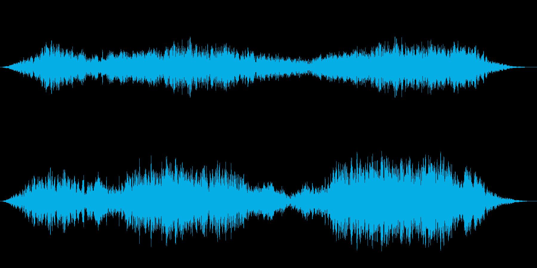 【風の音】雪山、自然ドキュメンタリーの再生済みの波形