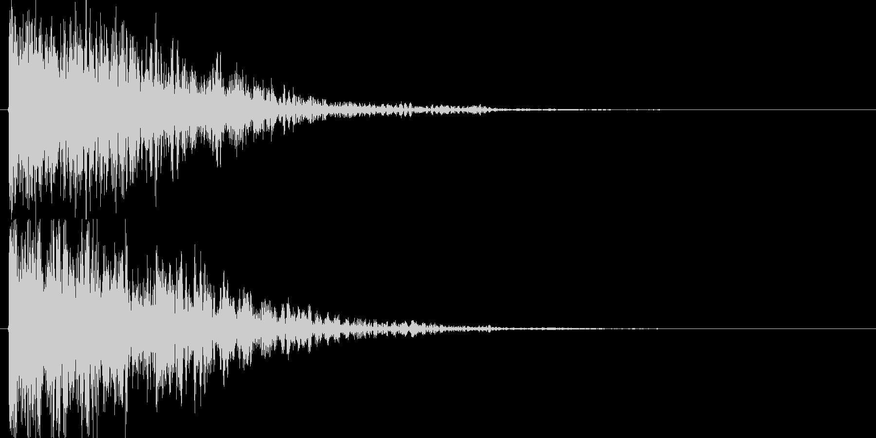 オリジナルの効果音_打撃音の未再生の波形