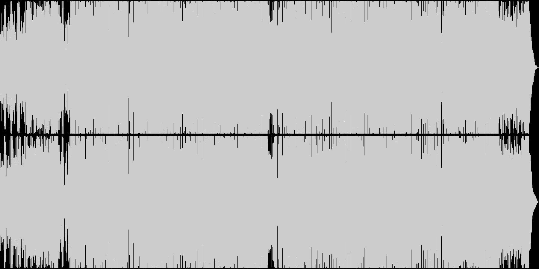 シリアスな雰囲気のR&Bヒップホップの未再生の波形