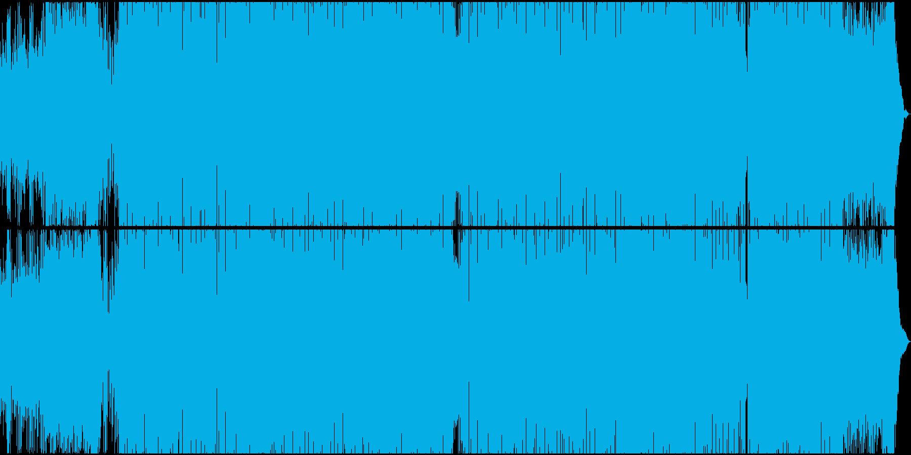 シリアスな雰囲気のR&Bヒップホップの再生済みの波形