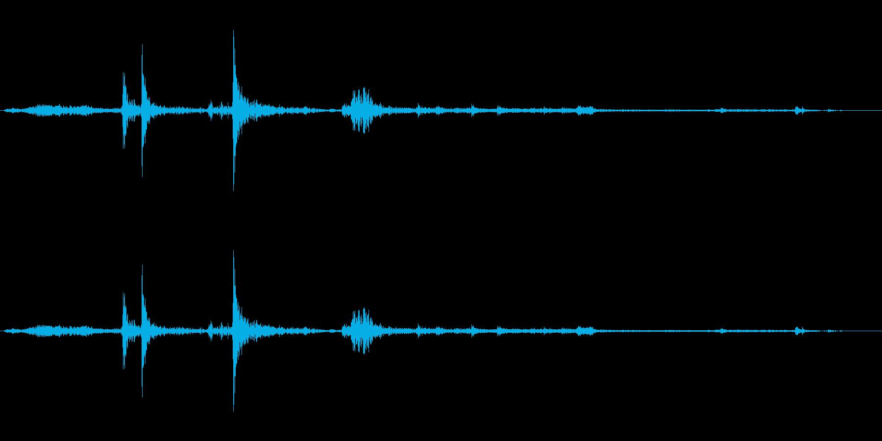 パソコンからCDが出てくる音の再生済みの波形