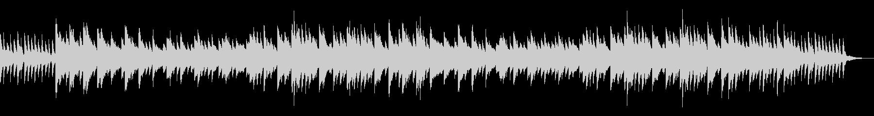 幻想的なピアノ曲の未再生の波形