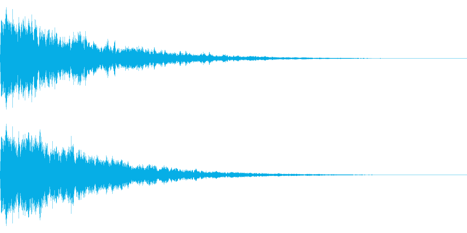 小さな鐘、鈴のイメージ(エコー付き)の再生済みの波形