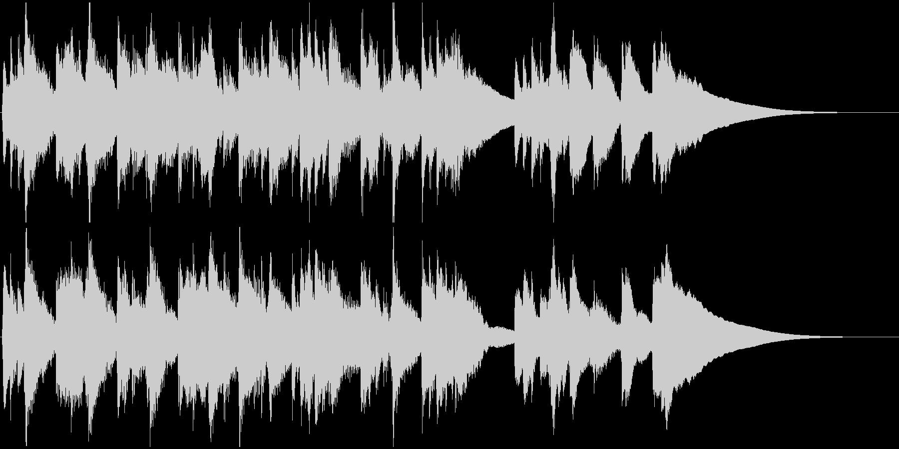 リュートのノスタルジックなジングルの未再生の波形