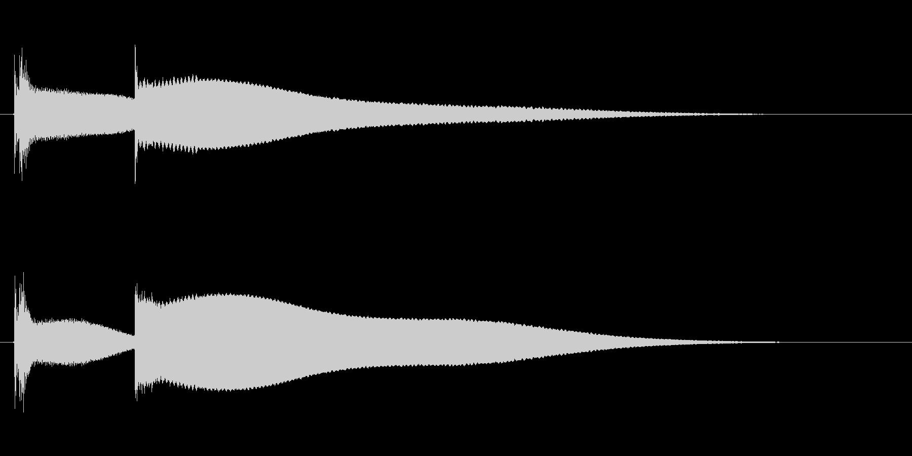 キンコ〜ン(ピコン)の未再生の波形