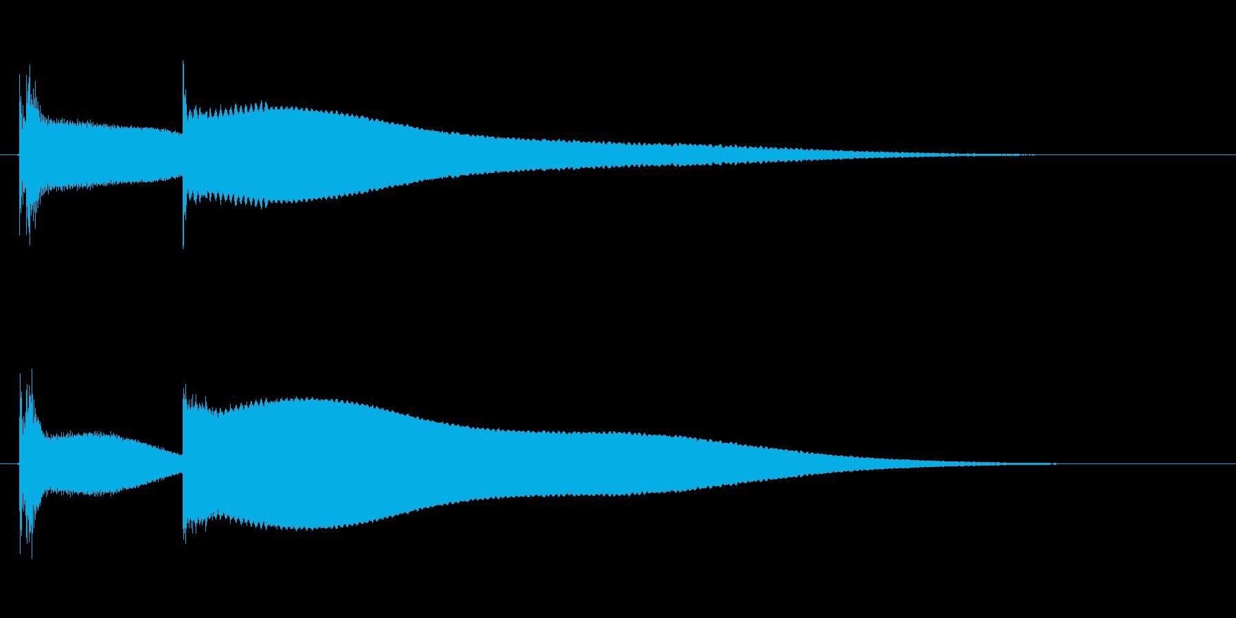 キンコ〜ン(ピコン)の再生済みの波形
