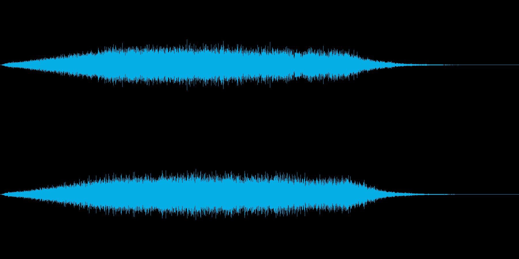 キラキラ音の再生済みの波形