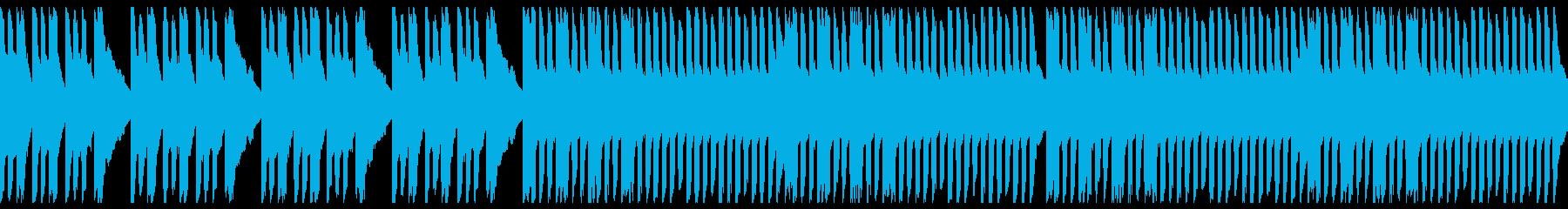 コミカルな楽しいレトロゲーム風のBGMの再生済みの波形